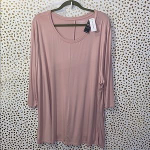 Lane Bryant Swing Collection Scoop neck Rose NEW